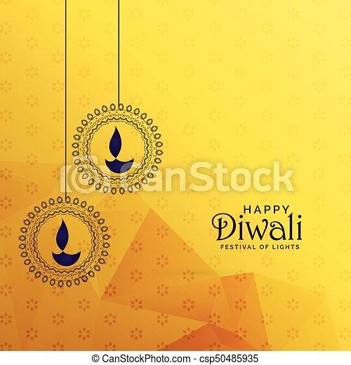 Premium diwali greeting card design with diya decoration premium diwali greeting card design with diya decoration csp50485935 m4hsunfo