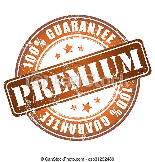 Premium guarantee stamp - csp31232480