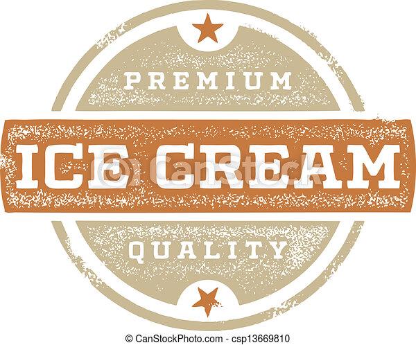 Premium Ice Cream Sign - csp13669810