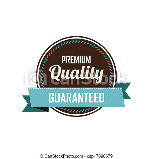 premium label abstract premium quality label on a white background