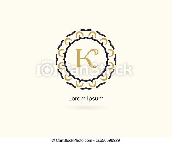 Premium Letter K Logo Icon Vector Design Luxury Jewelry Frame Gem Edge Logotype Spa And Salon Or Cosmetic Monogram Luxury