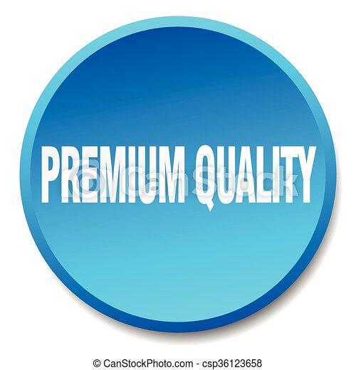 premium quality blue round flat isolated push button - csp36123658