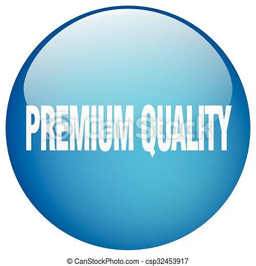 premium quality blue round gel isolated push button - csp32453917
