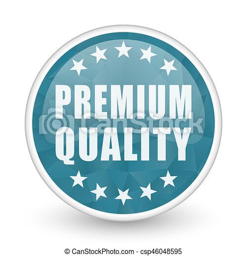Premium quality brillant crystal design round blue web icon. - csp46048595
