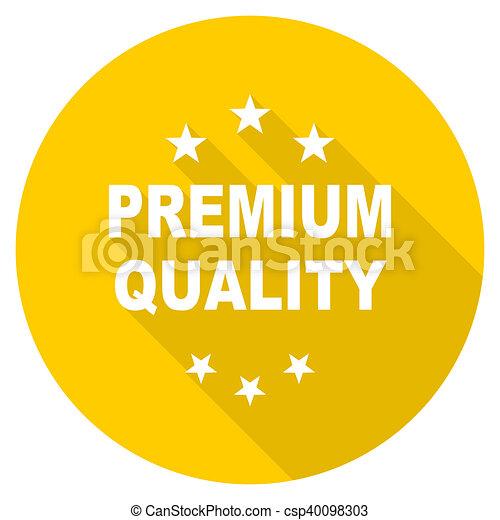 premium quality flat design yellow web icon - csp40098303