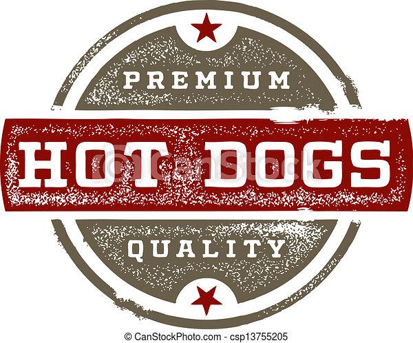 Premium Quality Hot Dogs - csp13755205