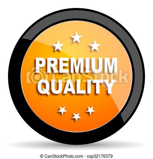 premium quality orange icon - csp32176379