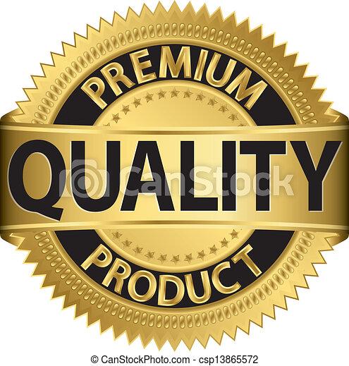 Premium quality product golden labe - csp13865572