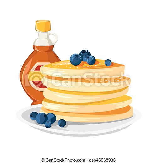 Premium quality restaurant breakfasts vintage style advertisement illustration - csp45368933