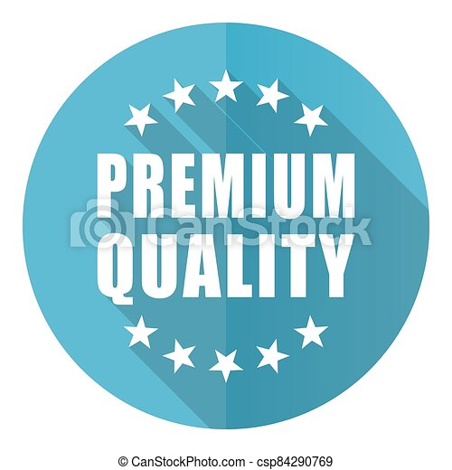 Premium quality vector icon, flat design blue round web button isolated on white background - csp84290769