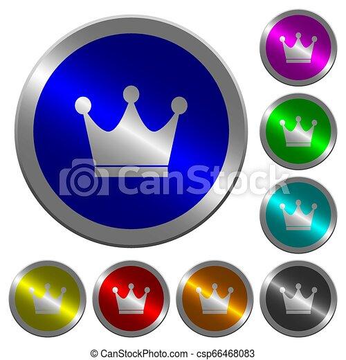 Premium services luminous coin-like round color buttons - csp66468083