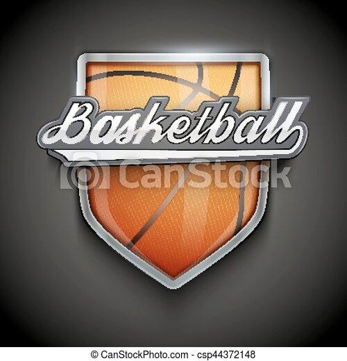 Premium Symbols Of Basketball Emblem Premium Symbol Of Basketball