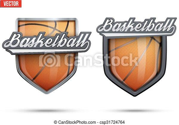 Premium Symbols Of Basketball Tag Set Of Premium Symbols Of