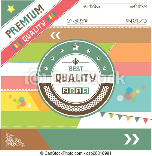 premium vintage badges and labels  - csp28318991