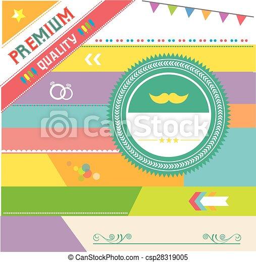 premium vintage badges and labels  - csp28319005