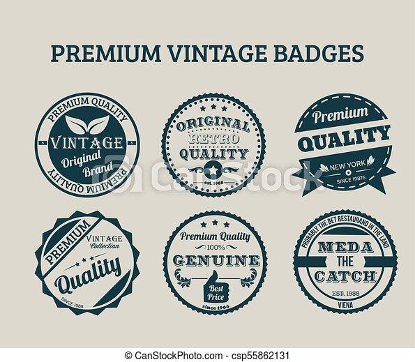Premium Vintage Badges - csp55862131