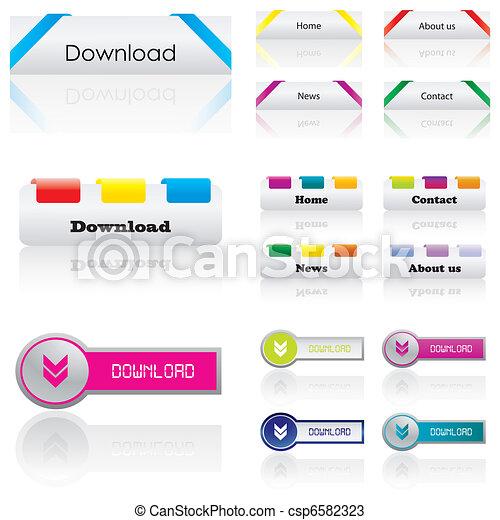 Premium web buttons - csp6582323