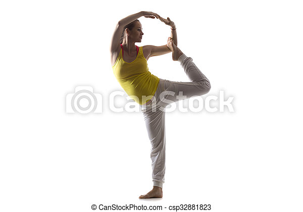 prenatal yoga lord of the dance pose full length