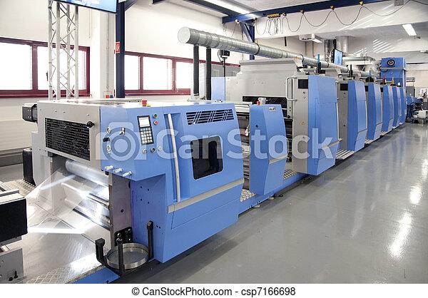 prensa, impresión, compensación - csp7166698