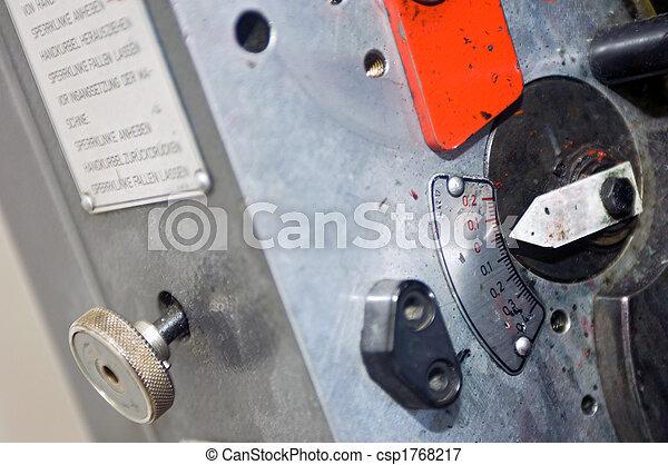 prensa, impresión, controles - csp1768217