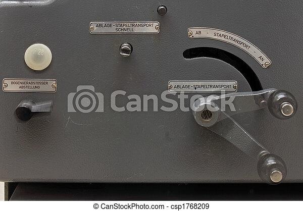 prensa, impresión, lado, panel - csp1768209