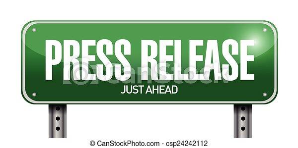 Presione la señal de la calle - csp24242112