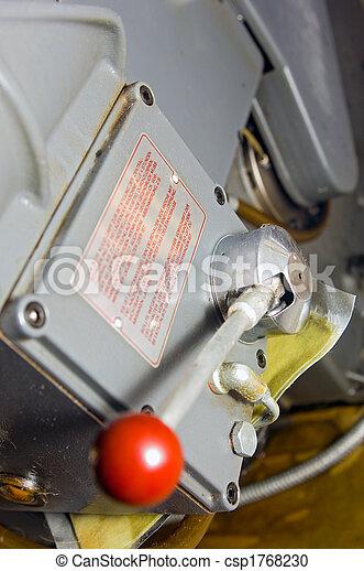 prensa, palanca, impresión - csp1768230