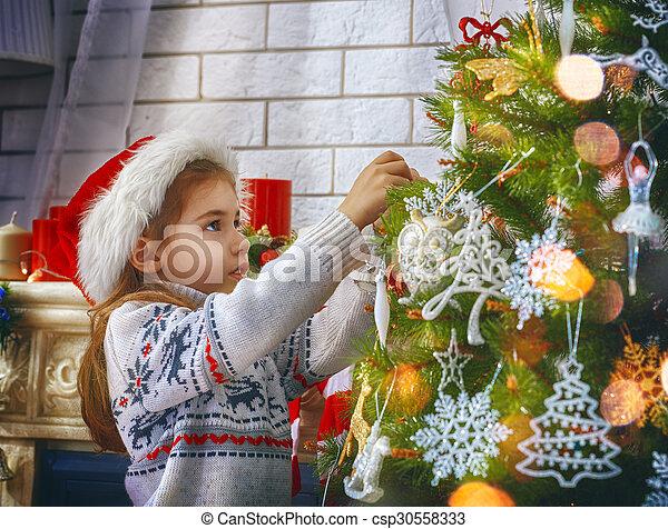 Preparándome para Navidad - csp30558333