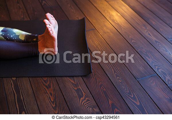 preparation for the practice of yoga doing dandasana