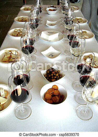 Preparation For Wine Tasting Table Set Up For Proper Wine