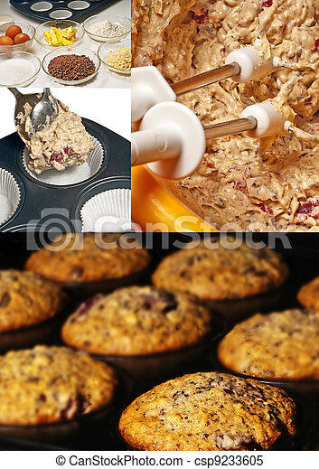 preparation of muffins - csp9233605