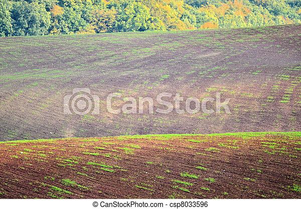 preparation of the fields in autumn - csp8033596