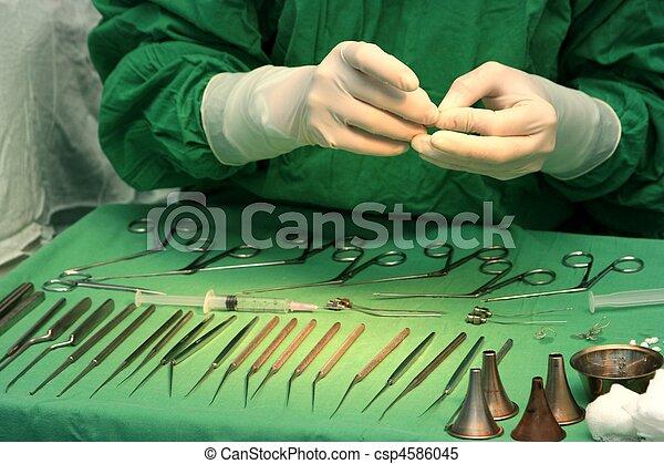 Preparing for surgery - csp4586045