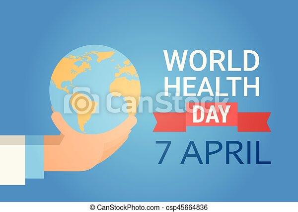 Presa Dottore Medico Globale Mano Pianeta Salute Terra Mondo