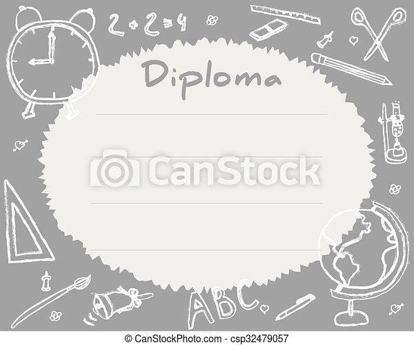 elementary school diploma templates
