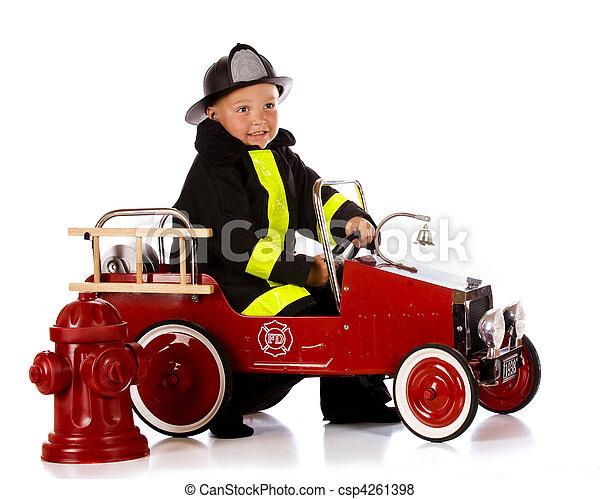 Preschool Fireman - csp4261398