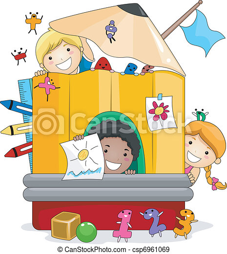preschool kids playing illustration of kids playing inside eps rh canstockphoto com clip art preschool classroom jobs clip art preschool classroom
