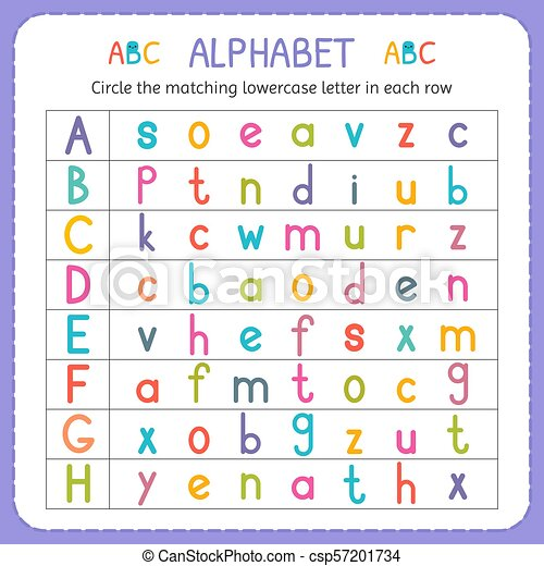 Preschool., lowercase, arbeitsblatt, kinder, kindergarten, h., brief ...