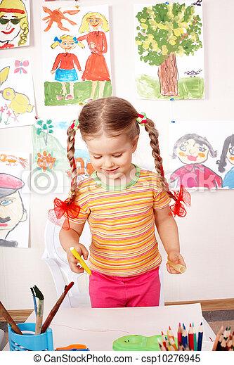 preschooler, tableau enfant, classroom. - csp10276945