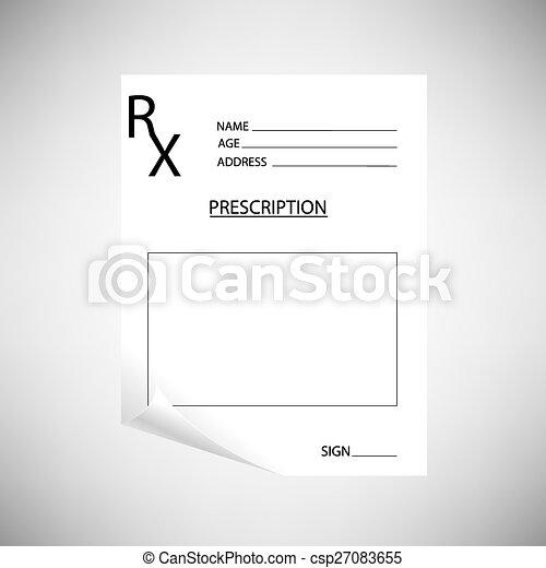 Prescripción en blanco - csp27083655