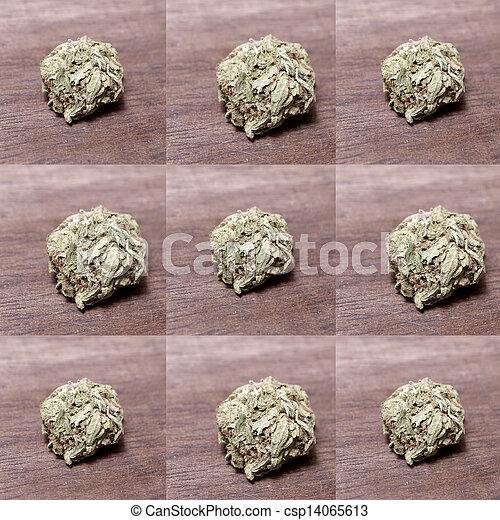 Prescripción médica de marihuana RX - csp14065613