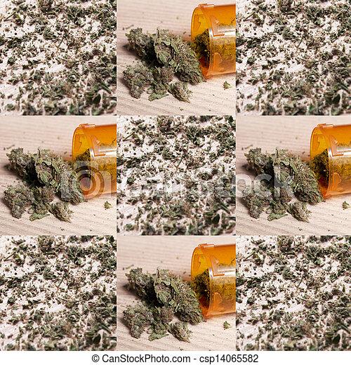 Prescripción médica de marihuana RX - csp14065582