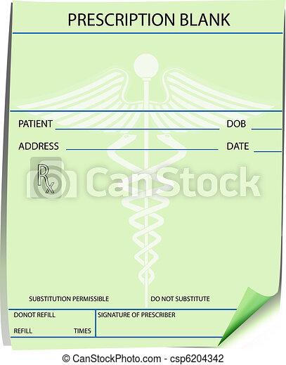 prescription, formulaire, vide - csp6204342