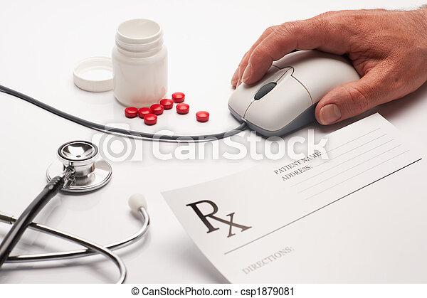 Prescription medicine and computer mouse - csp1879081