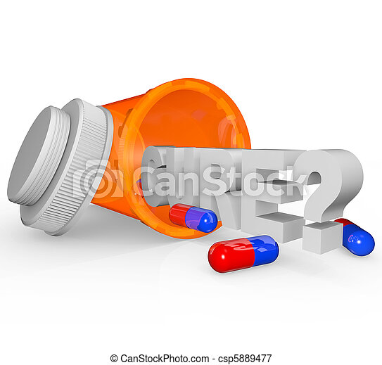 Prescription Medicine Bottle - Cure Word - csp5889477