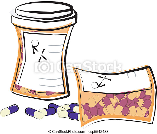 prescription pill bottles two prescription medicine bottles rh canstockphoto com Doctor Perscription Clip Art Hospital Patient Clip Art