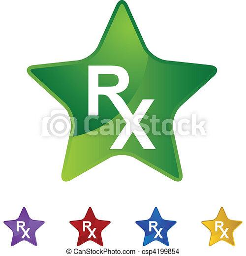 Prescription Symbol Eps Vector Search Clip Art Illustration