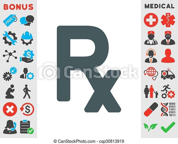 Prescription Symbol Icon - csp30813919