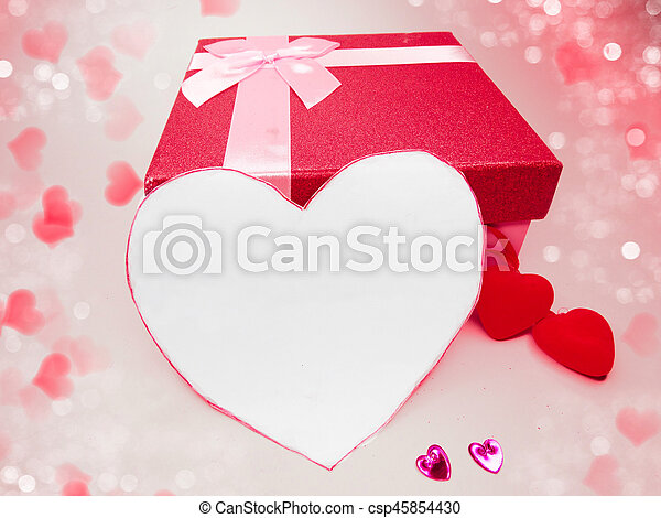 gift box greeting card love valentine\'s day with hearts