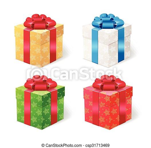 Present Box Set. Vector - csp31713469